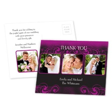 Photos and Flourishes - Amethyst - Thank You Postcard