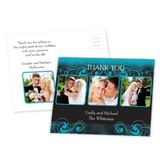 Photos and Flourishes - Palm - Thank You Postcard