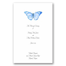 Butterfly in Blue - Wedding Program