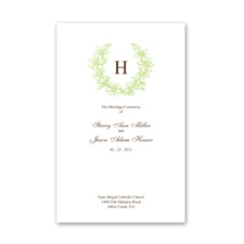 Floral Crest - Leaf - DIY Wedding Program