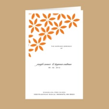 Floral Delight - Tangerine - Wedding Program