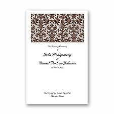 Clearly Refined - Chocolate - DIY Wedding Program