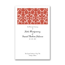 Clearly Refined - Scarlet - Wedding Program