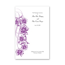 Flowers and Flourishes - Grapevine - DIY Wedding Program