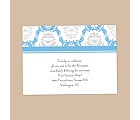 Damask Arches - Cornflower - Reception Card