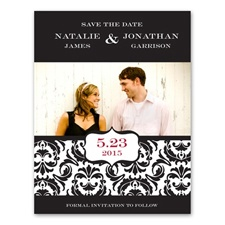 Band of Damask - Photo Save the Date Card