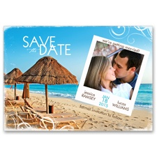 Paradise Awaits - Photo Save the Date Card