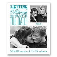 Beautiful Words - Save the Date Card