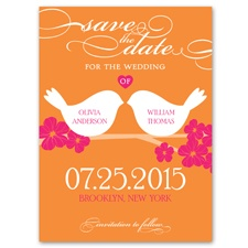 Beak to Beak - Poppy - Save the Date Card