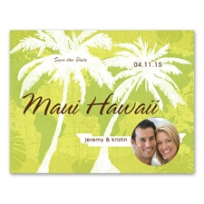 Tropical Destination - Photo Save the Date Card