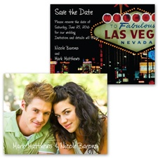 Fabulous Las Vegas - Photo Save the Date Card