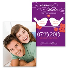 Beak to Beak - Grapevine - Photo Save the Date Card