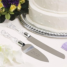 Clearly Elegant Knife and Server Set