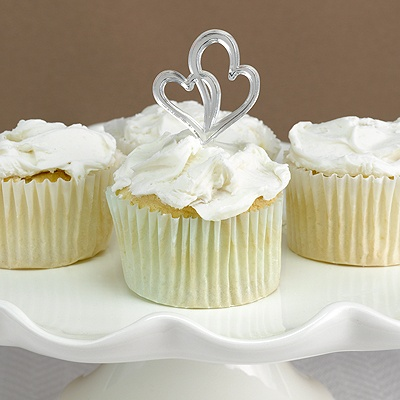 Double Heart Cupcake Picks