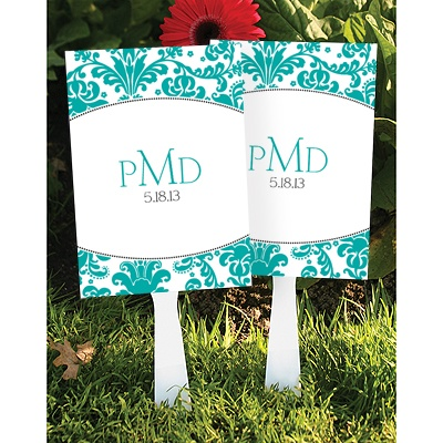Stylish Damask Favor Fan