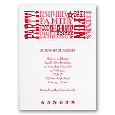 Reasons to Celebrate - Party Invitation