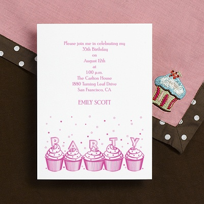 Cute Cupcakes - Party Invitation
