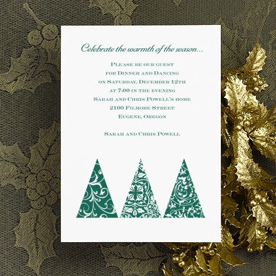 Trimmed Trees - Holiday Party Invitation