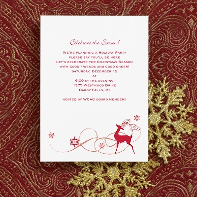 Dazzling Reindeer - Holiday Party Invitation