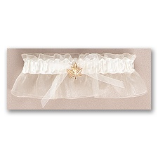 Leaf Wedding Garter