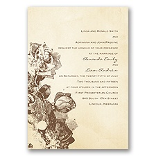 Etched Roses - Invitation