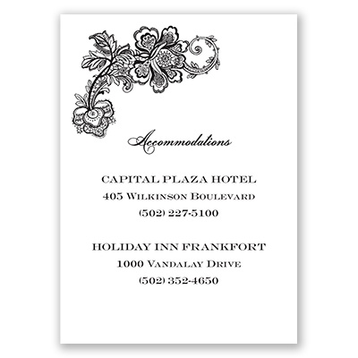 Lacy Whisper - Accommodations Card