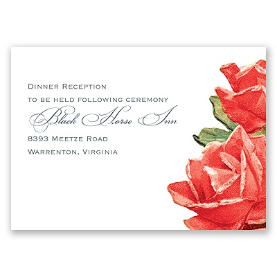 Sentimental Roses - Red - Reception Card