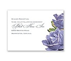 Sentimental Roses - Purple - Reception Card