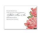 Sentimental Roses - Pink - Reception Card