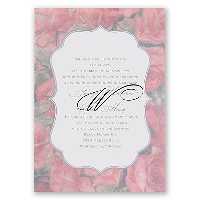 Sentimental Roses - Pink - Invitation
