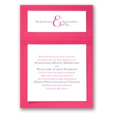 Two of Us - Fuchsia - Layered Invitation