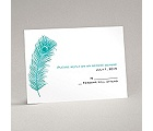 Peacock Plume - Teal - Response Card and Envelope