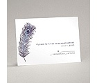 Peacock Plume - Purple - Response Card and Envelope
