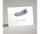 Peacock Plume - Purple - Thank You Card and Envelope