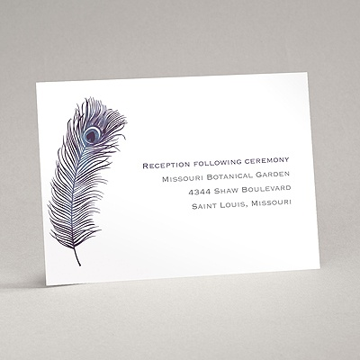 Peacock Plume - Purple - Reception Card