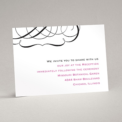 Elegant Monogram - Reception Card