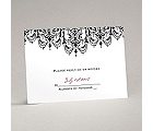 Chandelier Damask - Response Card and Envelope