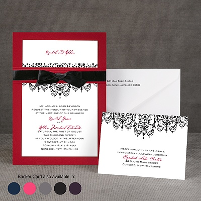 Chandelier Damask - Layered Invitation