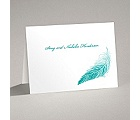 Delicate Feather - Thank You Card and Envelope