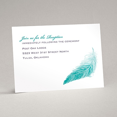 Delicate Feather - Reception Card