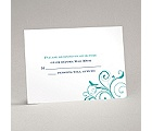 Swirling Love Birds - Response Card and Envelope