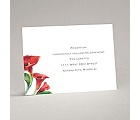 Colorful Calla Lily - Bright Red - Reception Card