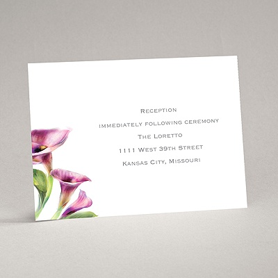 Colorful Calla Lily - Grapevine - Reception Card