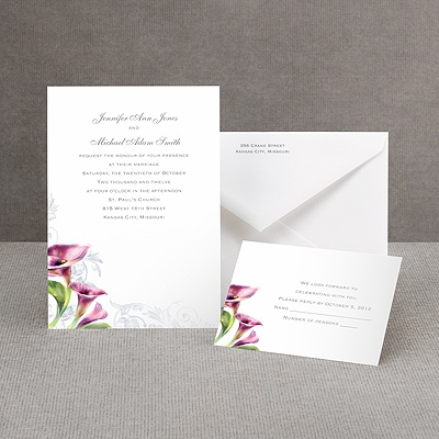 Colorful Calla Lily - Grapevine - Invitation