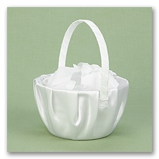 White Satin Basket