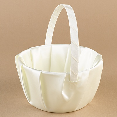 Ecru Satin Basket