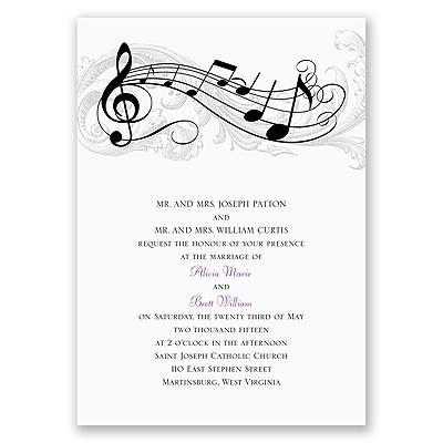 music theme favors a z weddings. Black Bedroom Furniture Sets. Home Design Ideas