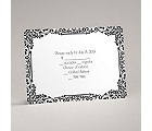 Vintage Filigree - Black - Response Card and Envelope