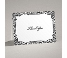 Vintage Filigree - Black - Thank You Card and Envelope