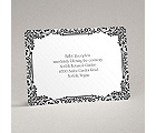 Vintage Filigree - Black - Reception Card